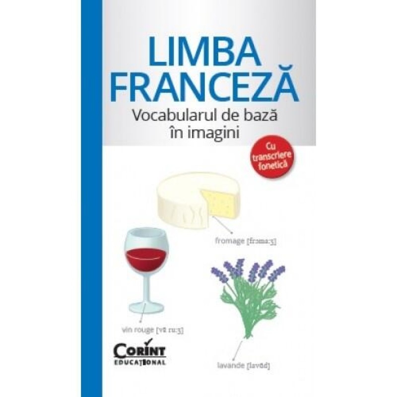 Carte pentru copii Vocabularul de bază în imagini Limba franceză, 96 pagini 2021 shopu.ro