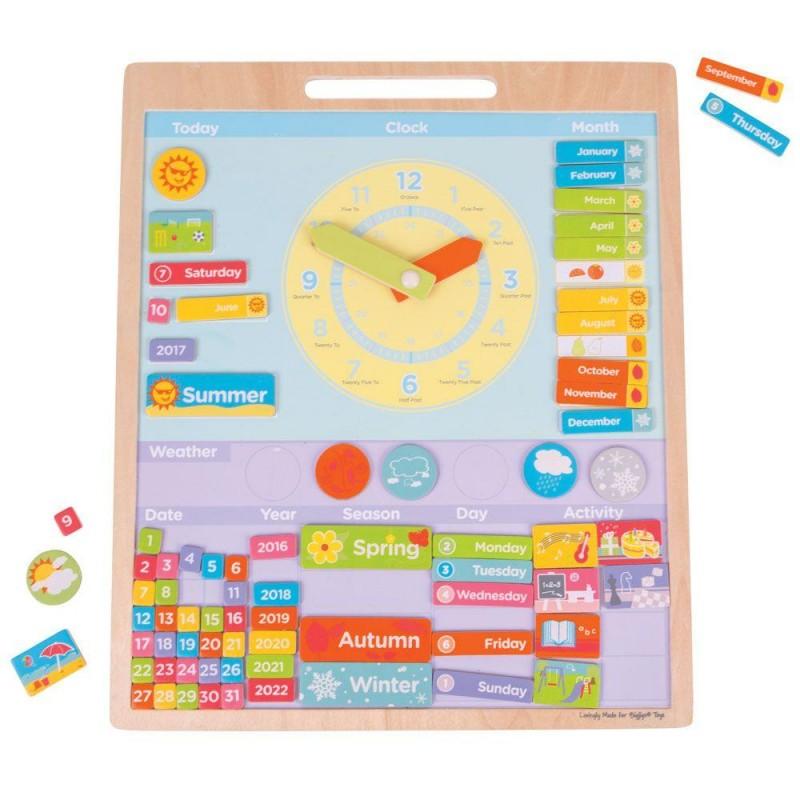 Vremea Calendar magnetic in limba engleza, 42 x 45 x 2 cm, 3 - 8 ani