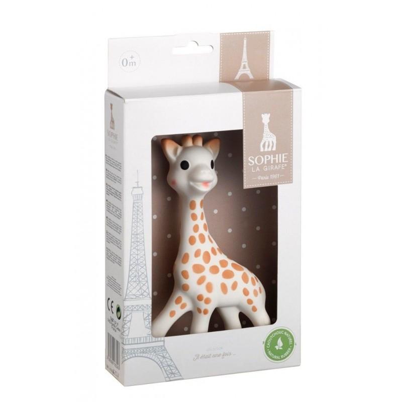 Jucarie pentru dentitie girafa Sophie Vulli, 17 cm, cauciuc, 0 luni+ 2021 shopu.ro