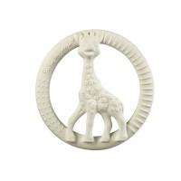 Inel pentru dentitie girafa So pure Sophie Vulli, plastic, 0 luni+, forma cerc