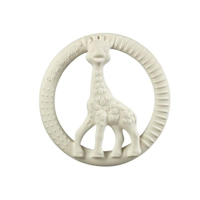 Inel pentru dentitie girafa So pure Sophie Vulli, plastic, 0 luni+, forma cerc 2021 shopu.ro