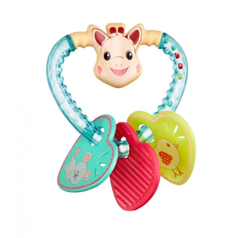 Inel pentru dentitie Vulli, plastic, 3 luni+, model inimioare 2021 shopu.ro