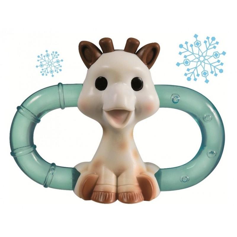 Inel refrigerant pentru dentitie girafa Sophie Vulli, cauciuc natural, 3 luni+ 2021 shopu.ro