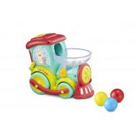 Trenulet Magic Pop girafa Sophie Vulli, plastic, 4 moduri de joaca, 6 luni+, Multicolor
