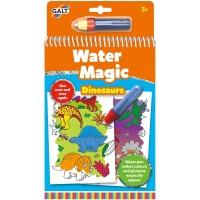 Carte de colorat pentru copii Galt Dinozauri, 6 imagini reutilizabile