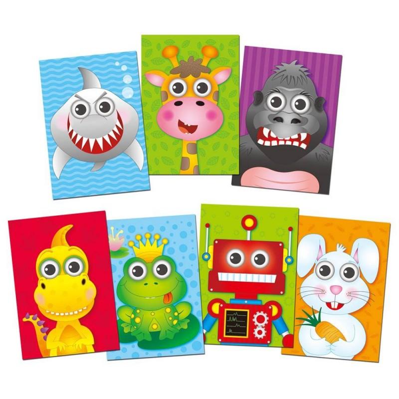 Carte de colorat Ghici cine-i acolo, 6 imagini reutilizabile, dezvolta indemanarea 2021 shopu.ro