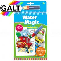 Carte de colorat pentru copii Galt Vehicule, 6 imagini reutilizabile