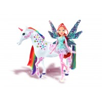 Papusa si unicorn Winx Tynix Bloom and Elas, 3 ani+