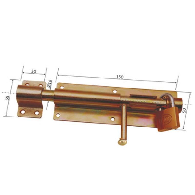 Zavor aplicat cu tija cilindrica si inel lacat P&P, 150 mm imagine