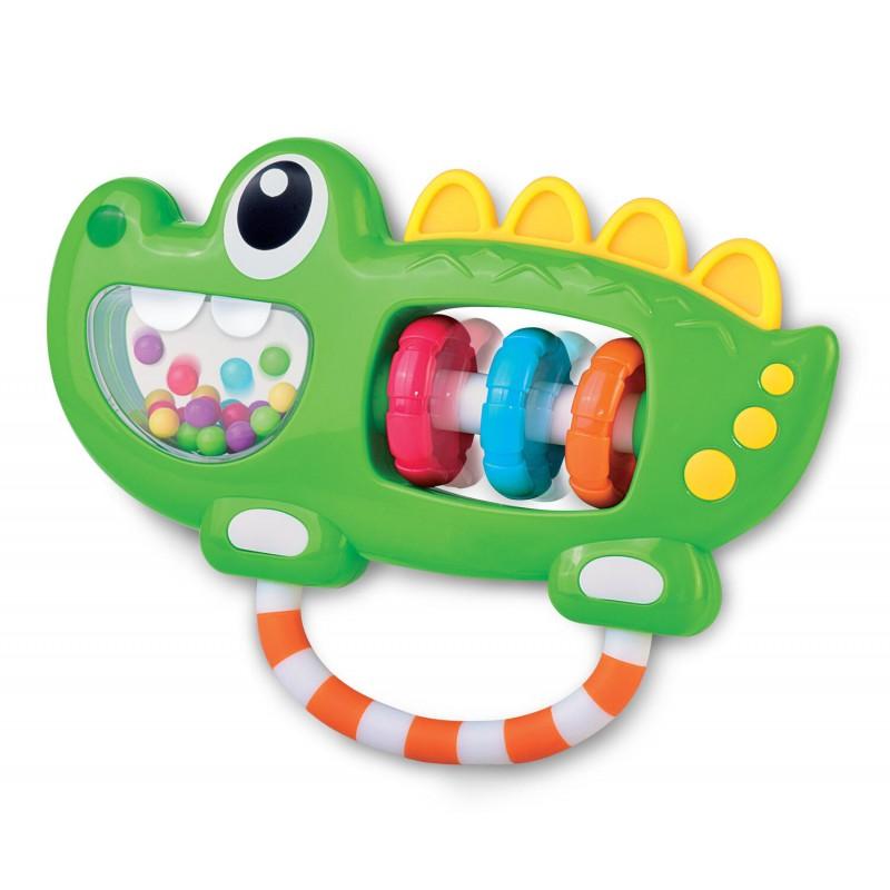 Jucarie zornaitoare Aligator Little Learner, 12 x 21 cm, plastic, 6 luni+, Multicolor 2021 shopu.ro