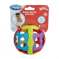 Zornaitoare minge cu activitati Playgro, plastic moale, 6 luni+